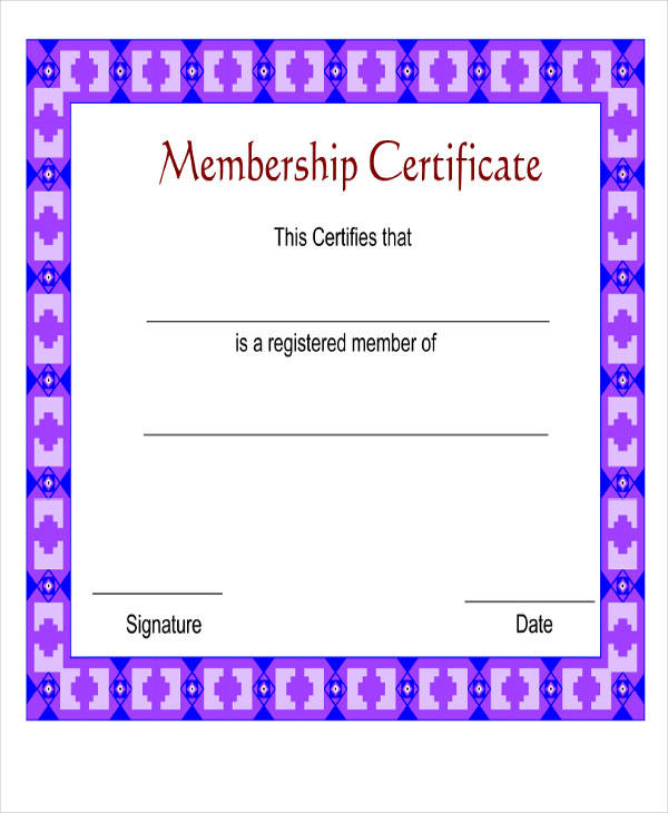 sample membership award certificate1