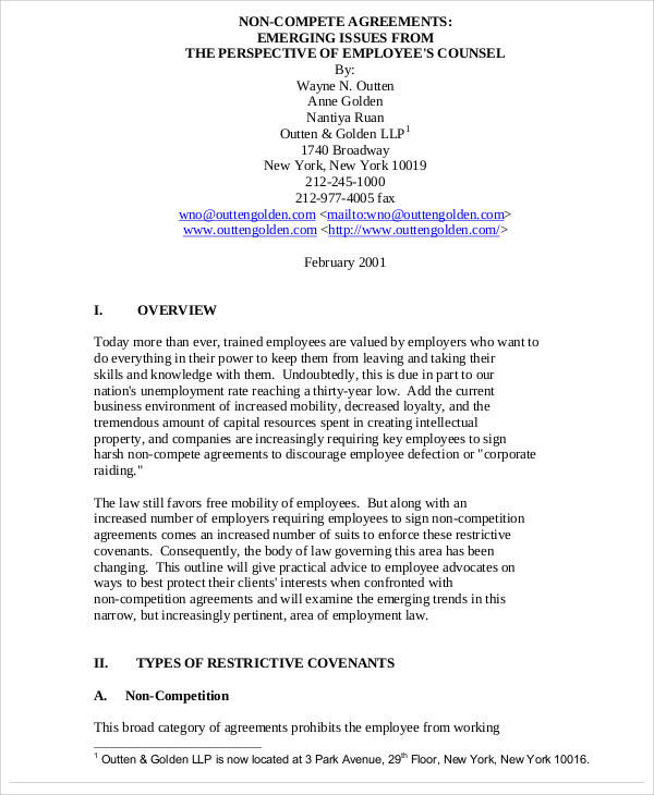 Sample Non Compete Agreement. Non Disclosure Agreement Template
