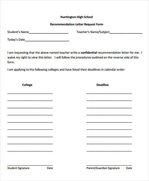 sample private high school recommendation letter