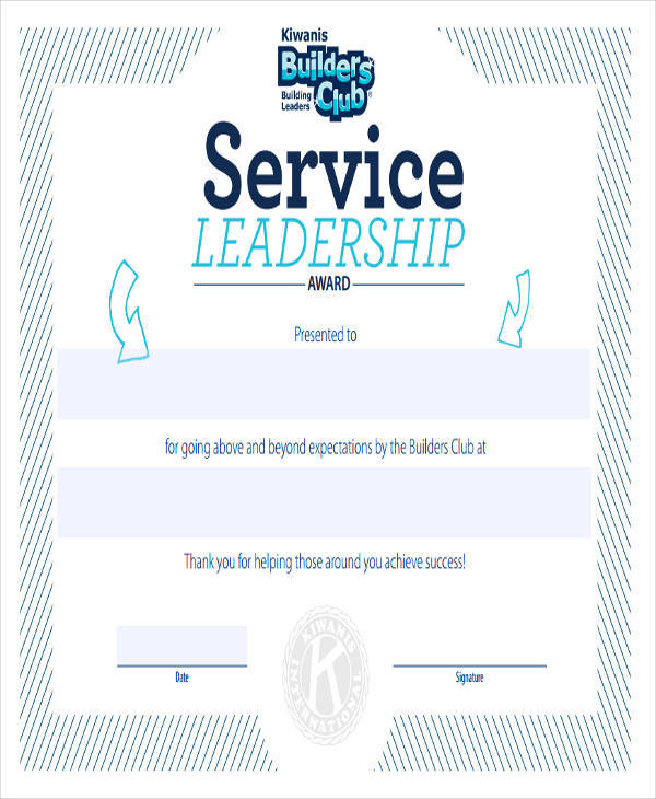 Sample Service Award Certificates  BesikEightyCo