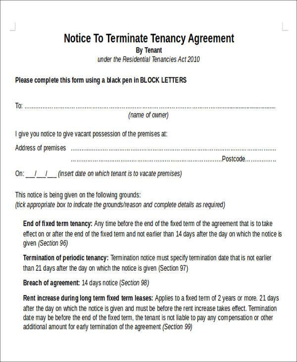 Sample-Tenancy-Termination-Notice-Agreement-Form Job Application Form Docx on cover letter form, cv form, employee benefits form, job resume, job letter, job advertisement, job applications online, job requirements, job search, agreement form, job openings, contact form, job applications you can print, job opportunity, job vacancy, job payment receipt,