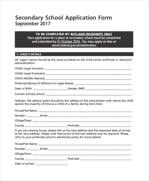 61 Simple Application Forms & Templates | Sample Templates