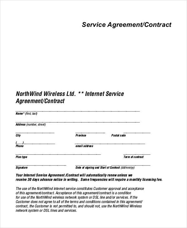 service agreement contract1