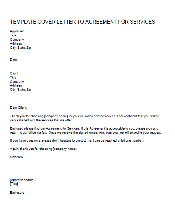 service agreement proposal letter