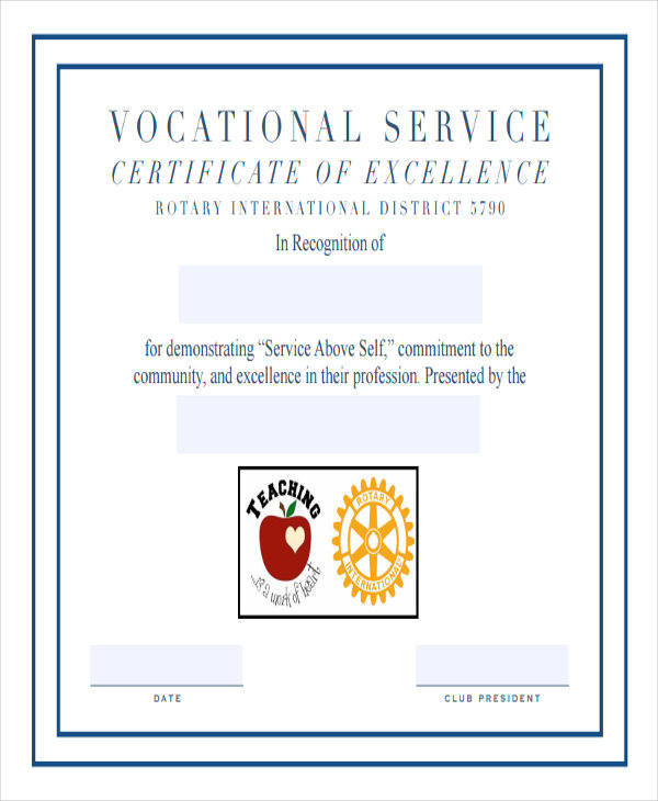 service excellence award certificate2