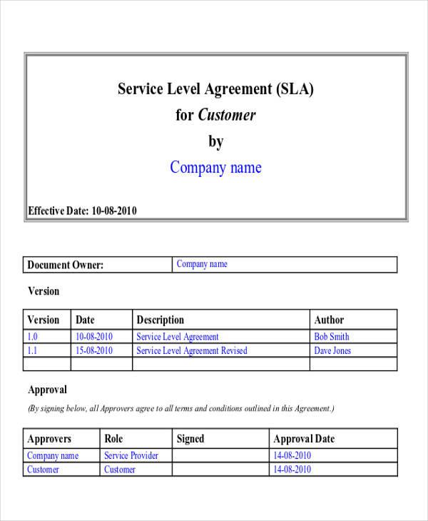 service level agreement1