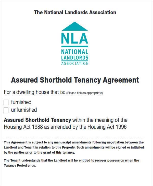 short term tenancy agreement