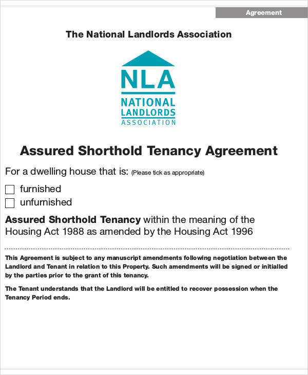 shorthold tenancy agreement1