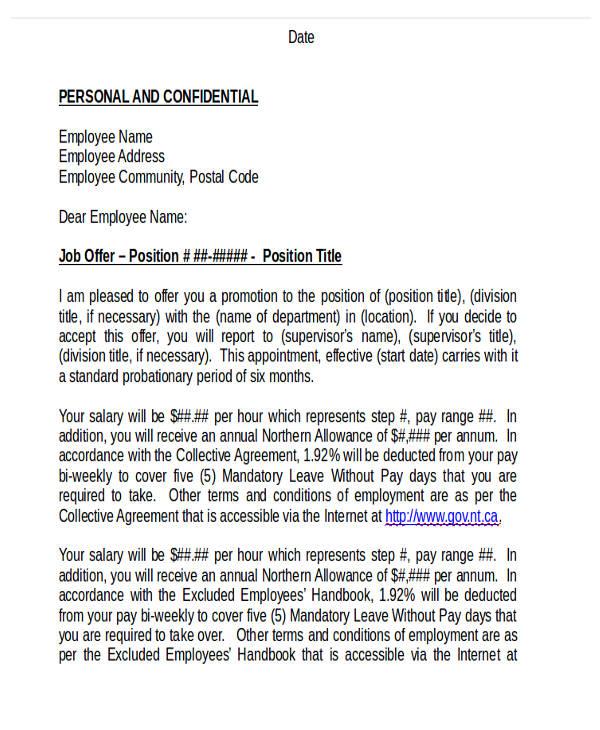 site promotion letter