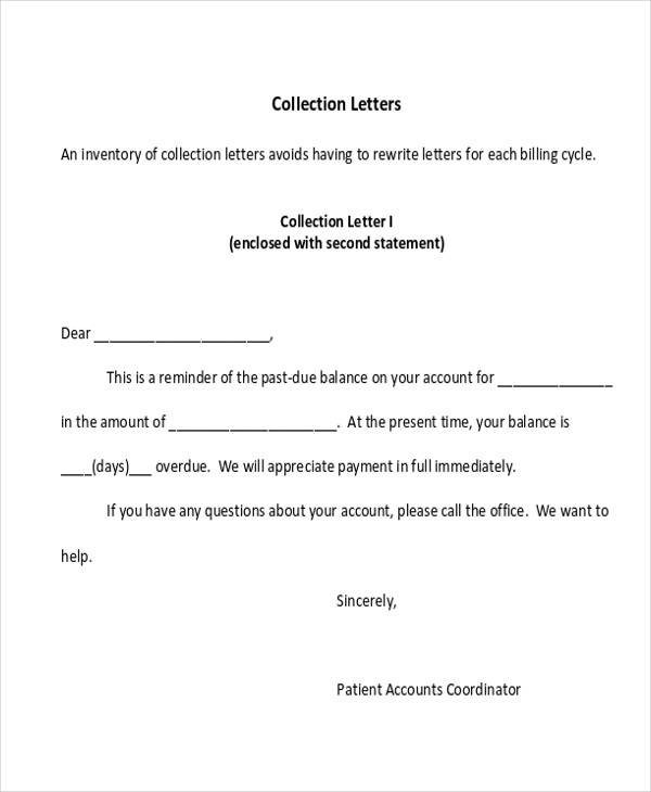 small business collection letter
