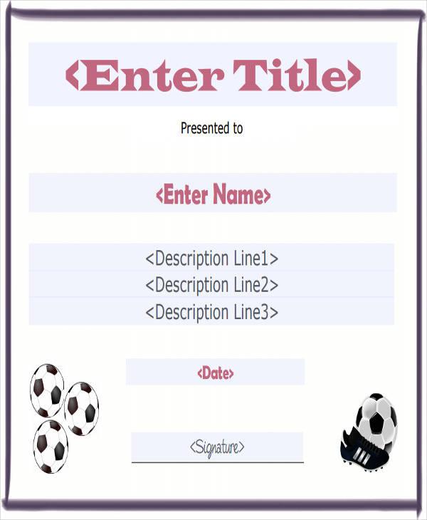 soccer sport participation certificate1