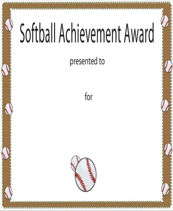 softball certificate of achievement1