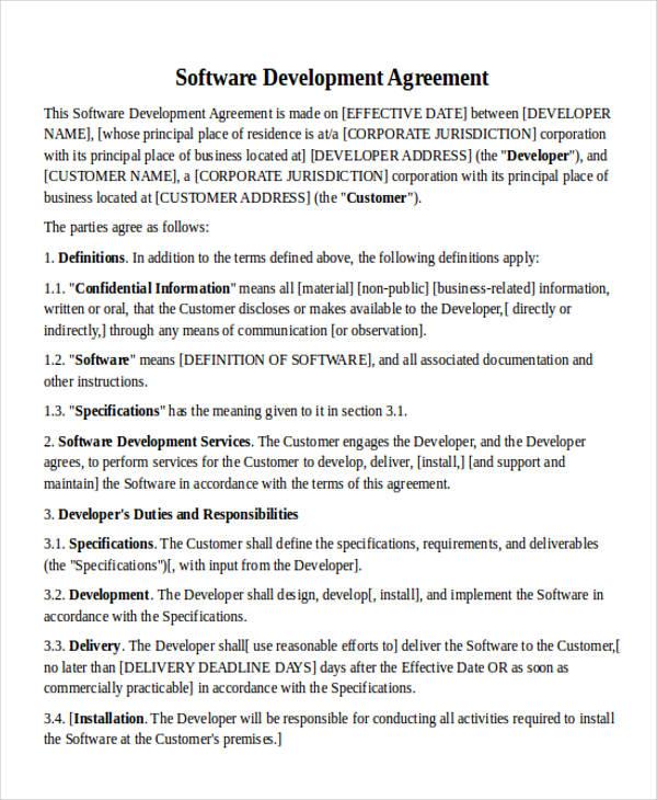 35 Agreement Letter Formats Sample Templates