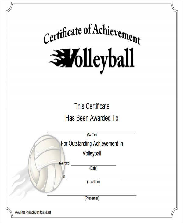 sports achievement award certificate2