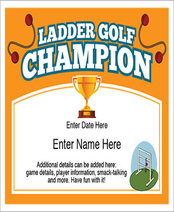 sports ladder golf certificate1