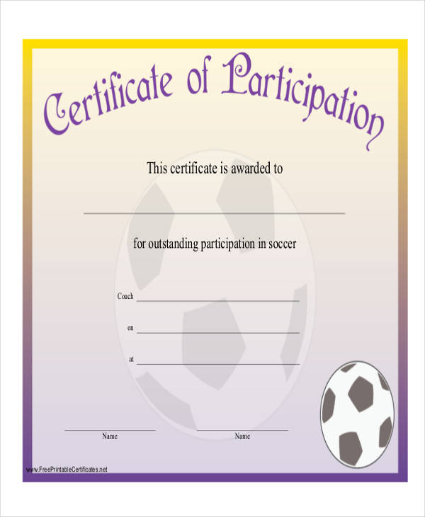 Printable Award Certificate – Sports Award Certificates