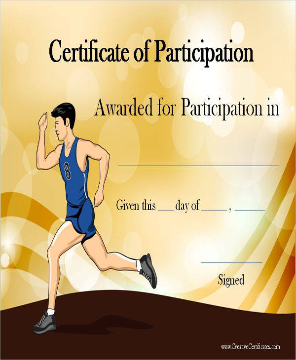 sports participation award certificate2