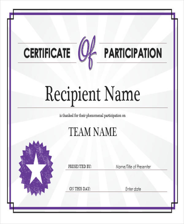 sports participation award certificate3