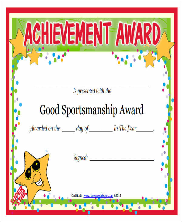 sportsmanship appreciation certificate1