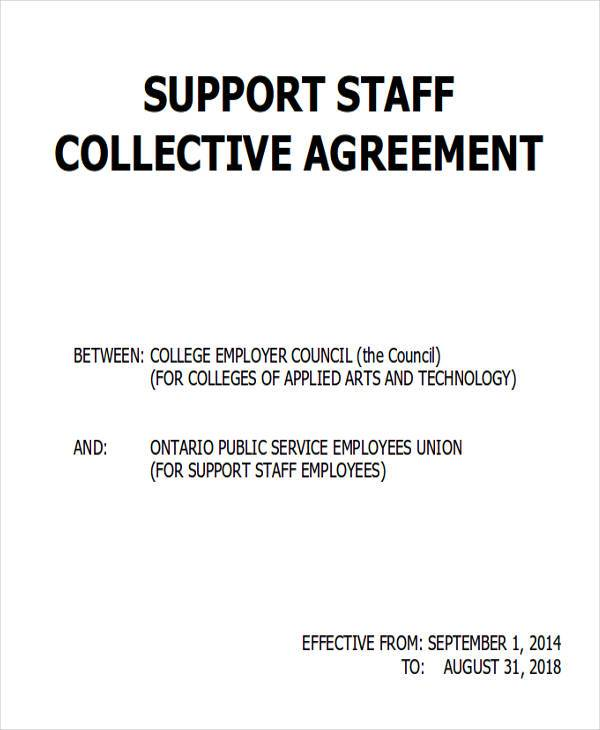 staff collective agreement