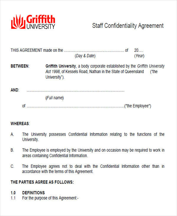 staff confidentiality agreement form2