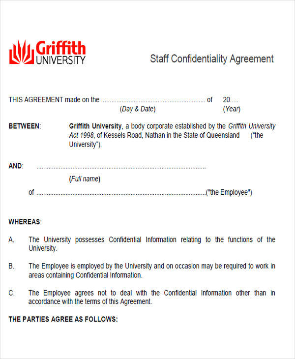 staff confidentiality agreement form3