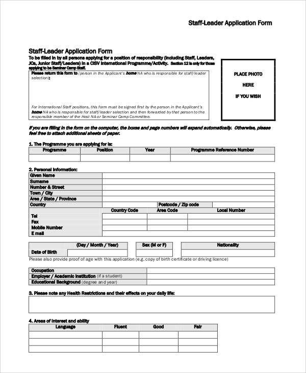 staff leader application form1