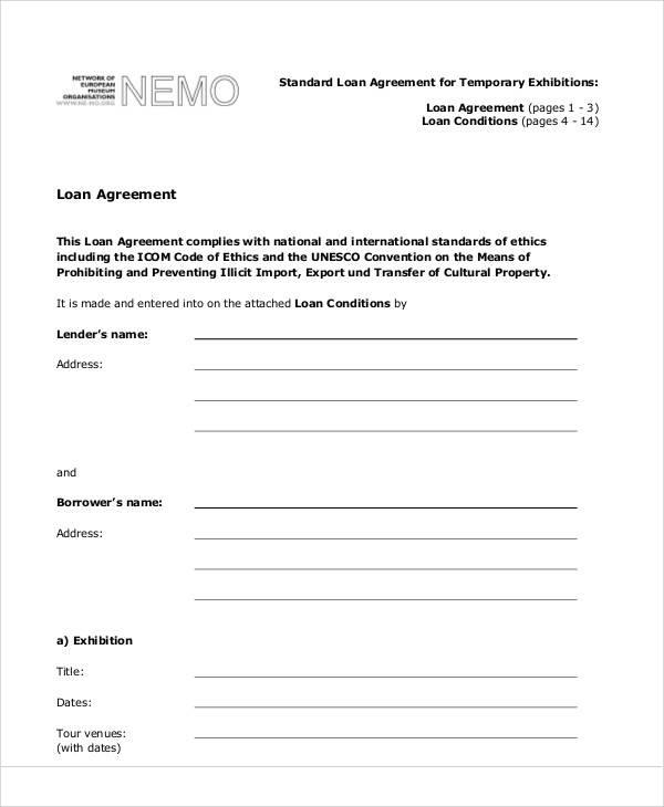 standard loan agreement1