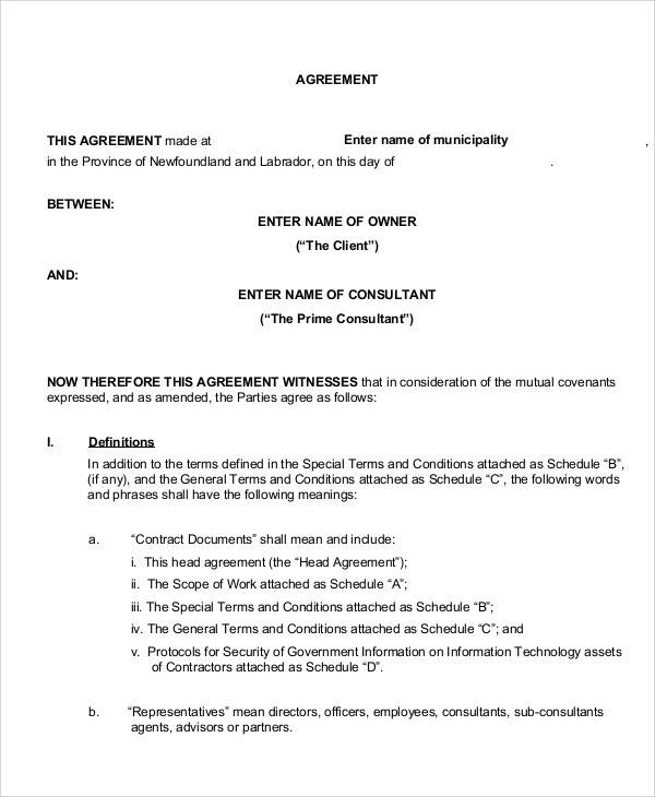 18 Consulting Agreement Forms Sample Templates