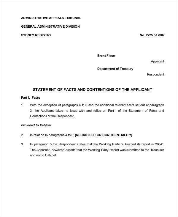Statement Form