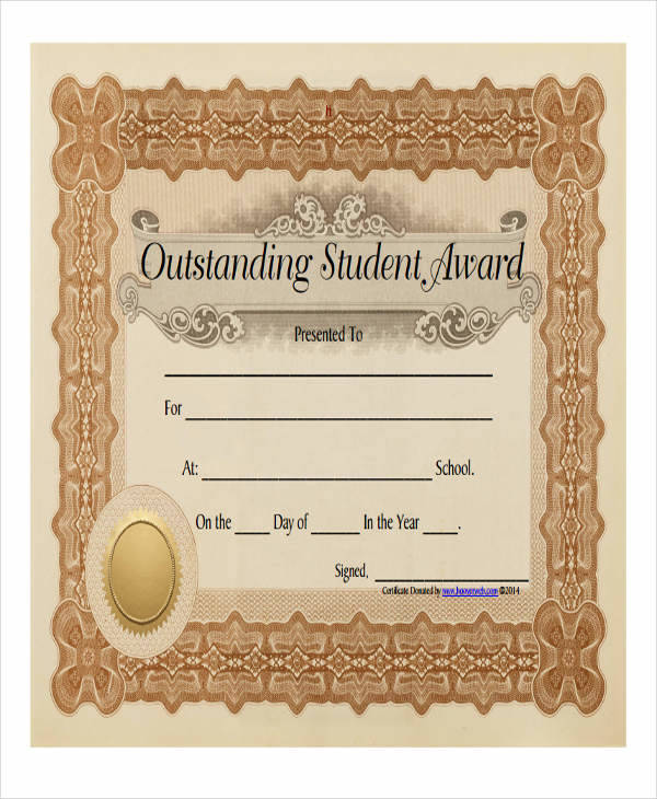 student award certificate pdf