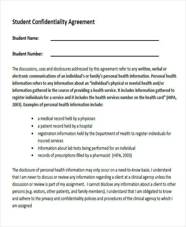 student confidentiality agreement form2