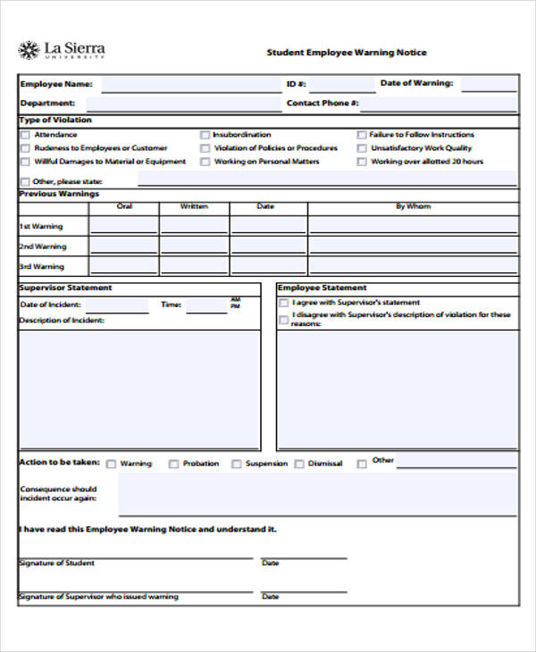 Employee Statement Form Employee Misconduct Investigation Form