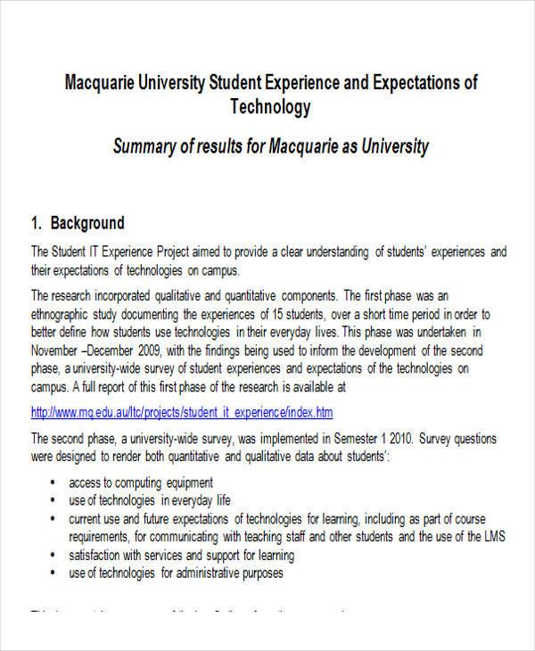 student experiences survey form