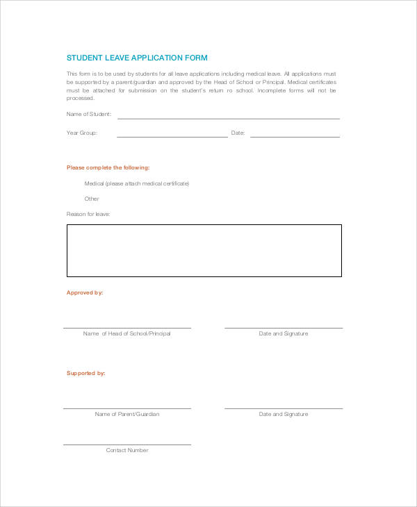 student leave application form1