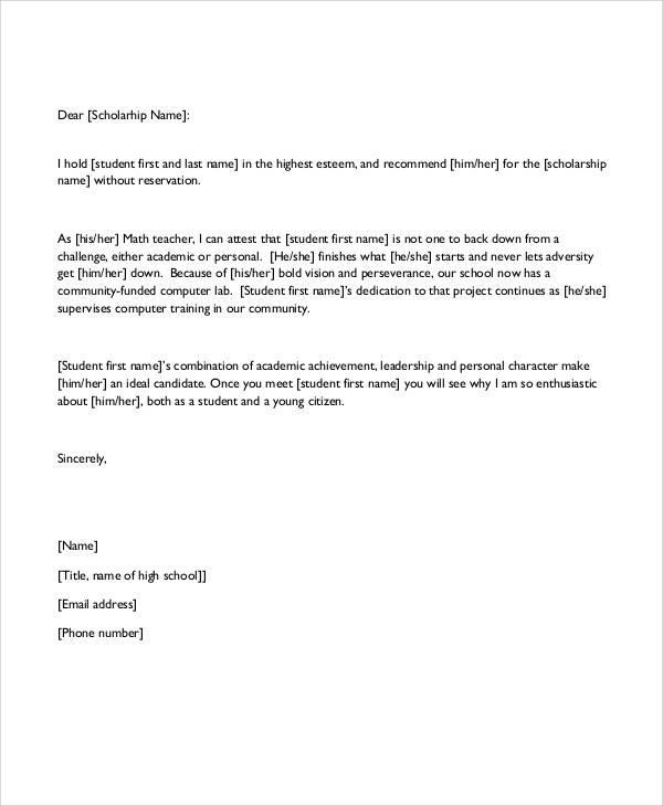 student teacher reference letter2