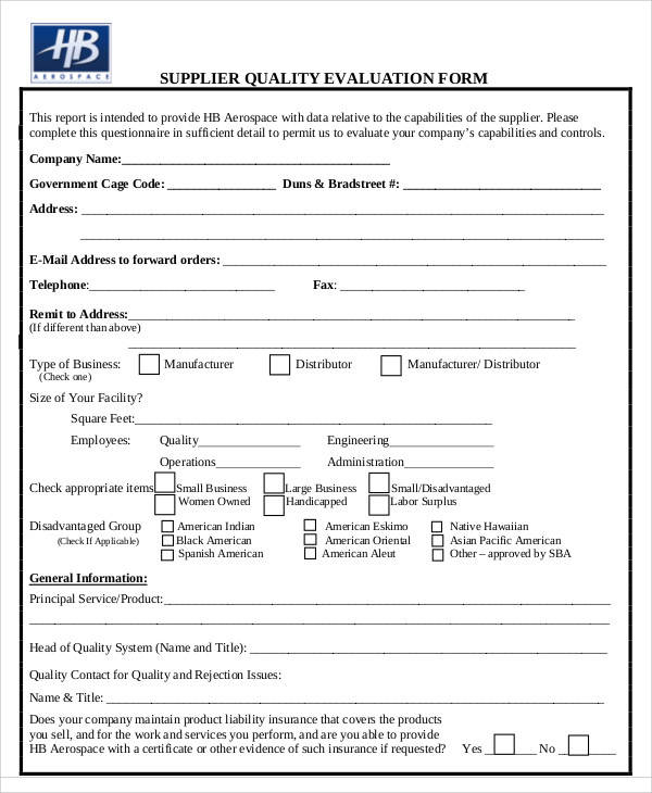 Product Evaluation Form New Customer Evaluation Form Customer
