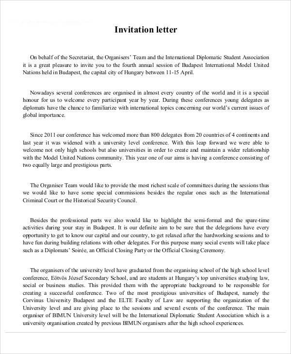 International students invitation letter invitationswedd 34 sample invitation letters pdf word apple pages stopboris Gallery