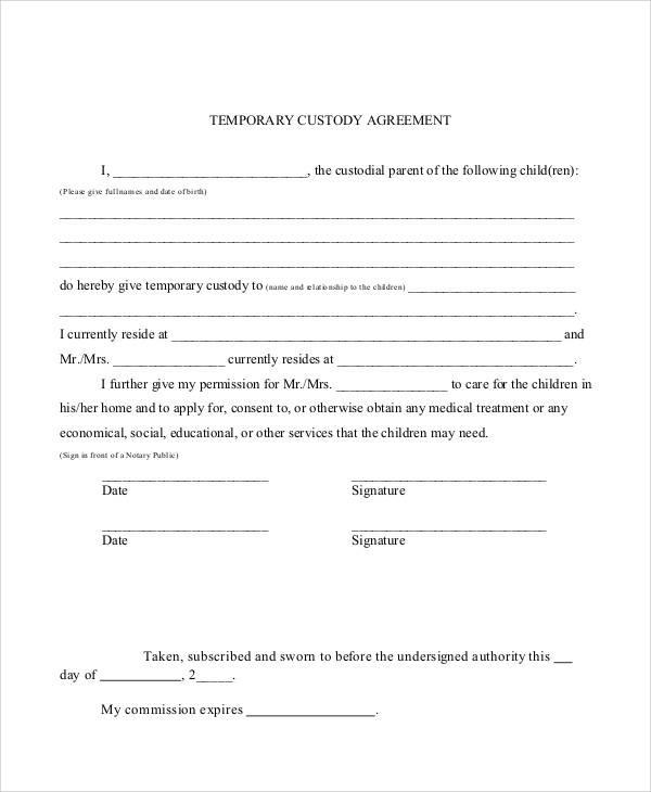 Printable Agreement Samples