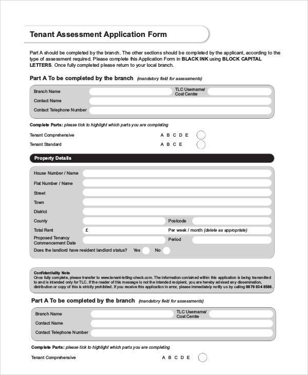 Printable Application Forms