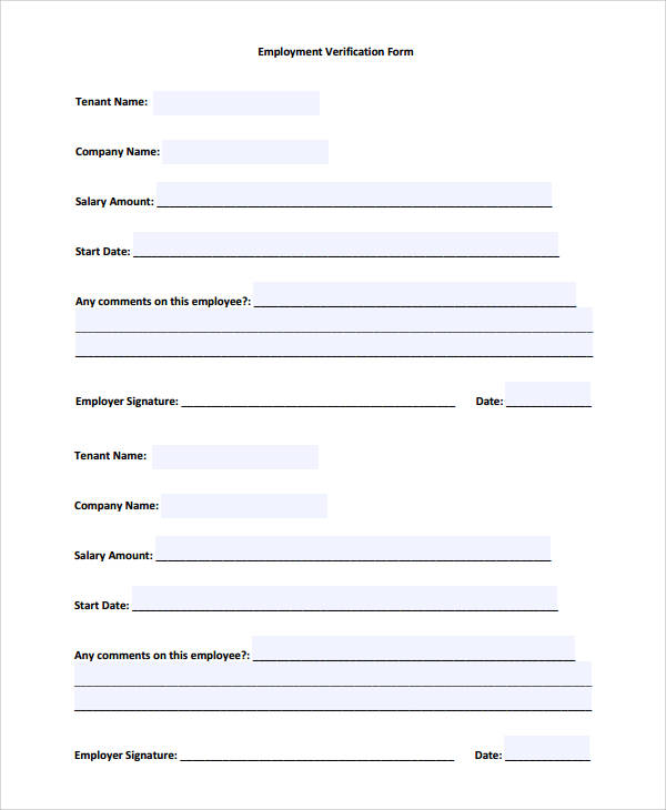 50 Sample Verification Forms Sample Templates