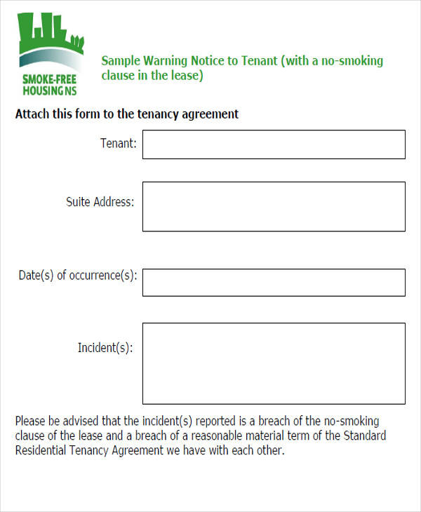 tenant warning notice form1