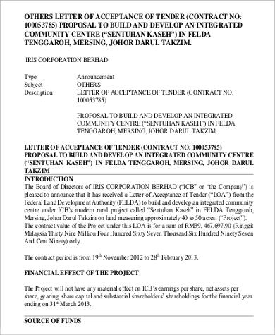tendor proposal acceptance letter1