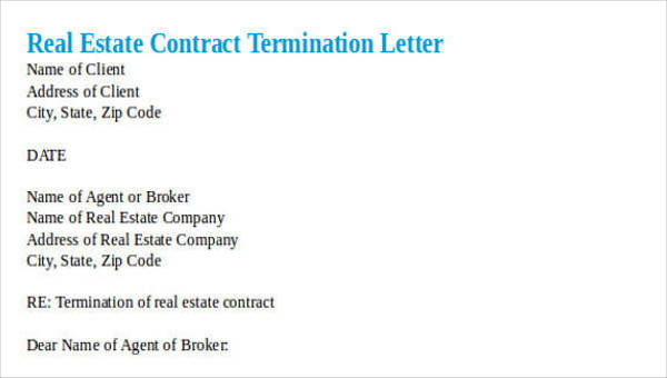 30 Termination Letter Formats