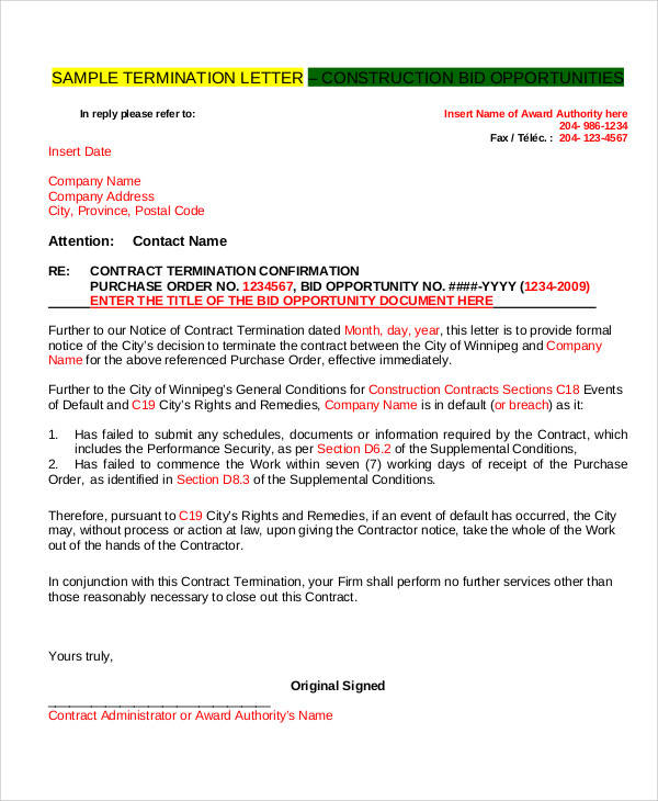 termination letter for security contractor1