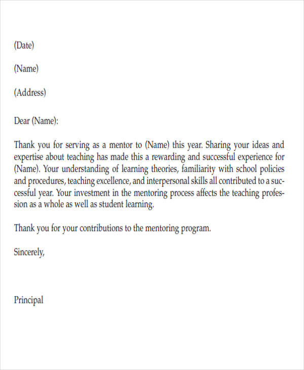 High Quality Thank You For Service Letter