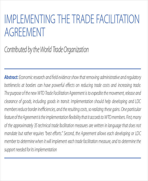 trade facilitation agreement1