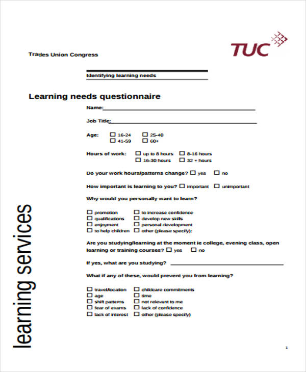 training needs survey form1