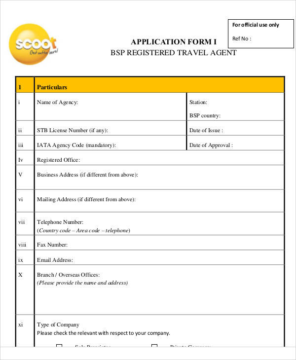 57 application form formats sample templates travel agent application form maxwellsz