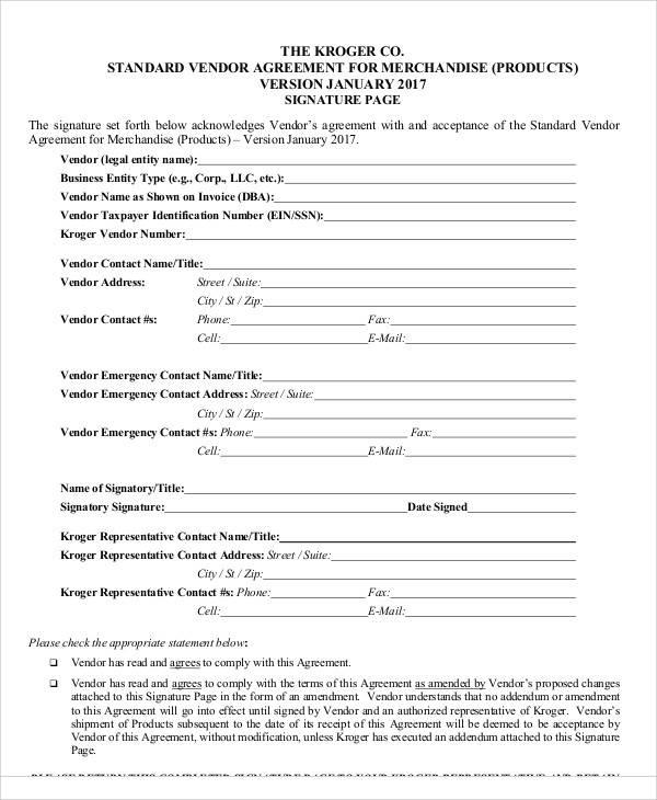 vendor agreement termination letter